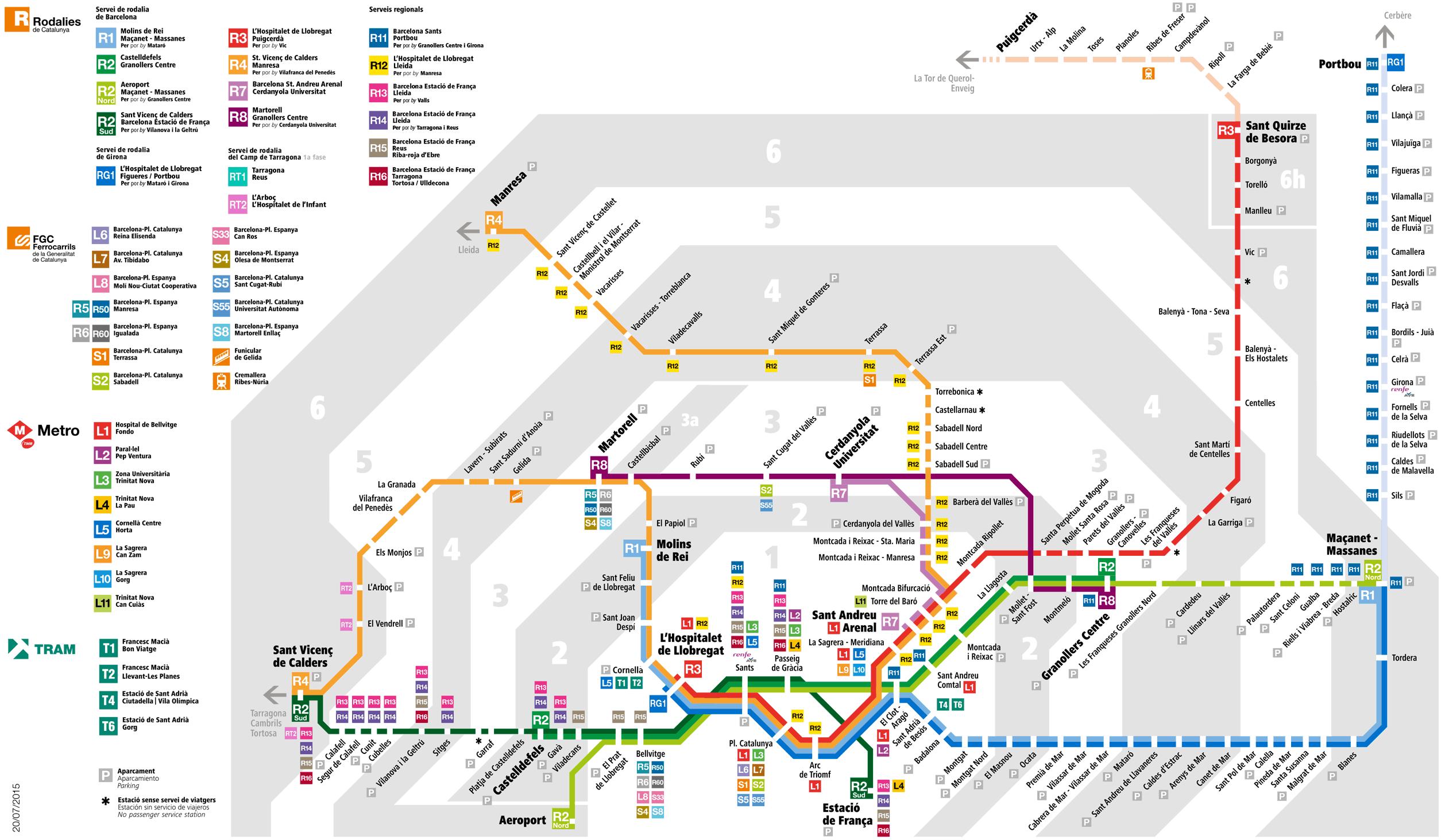 Mapa Renfe Regional Catalunya.Mapa Renfe Catalunya Mapa