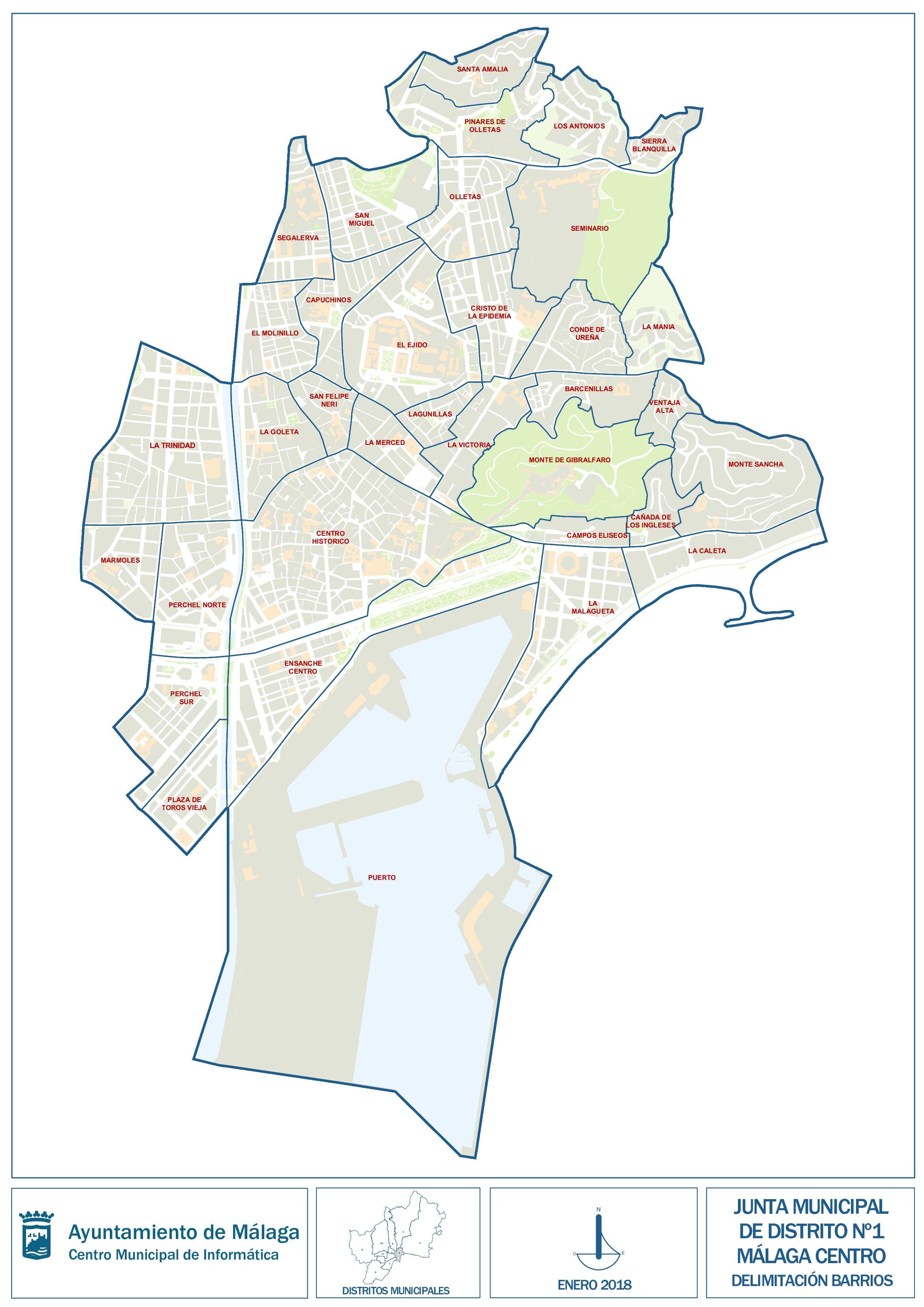 Mapa De Malaga Capital Por Barrios.Barrios De Malaga Barrios Del Centro Que Ver 101viajes
