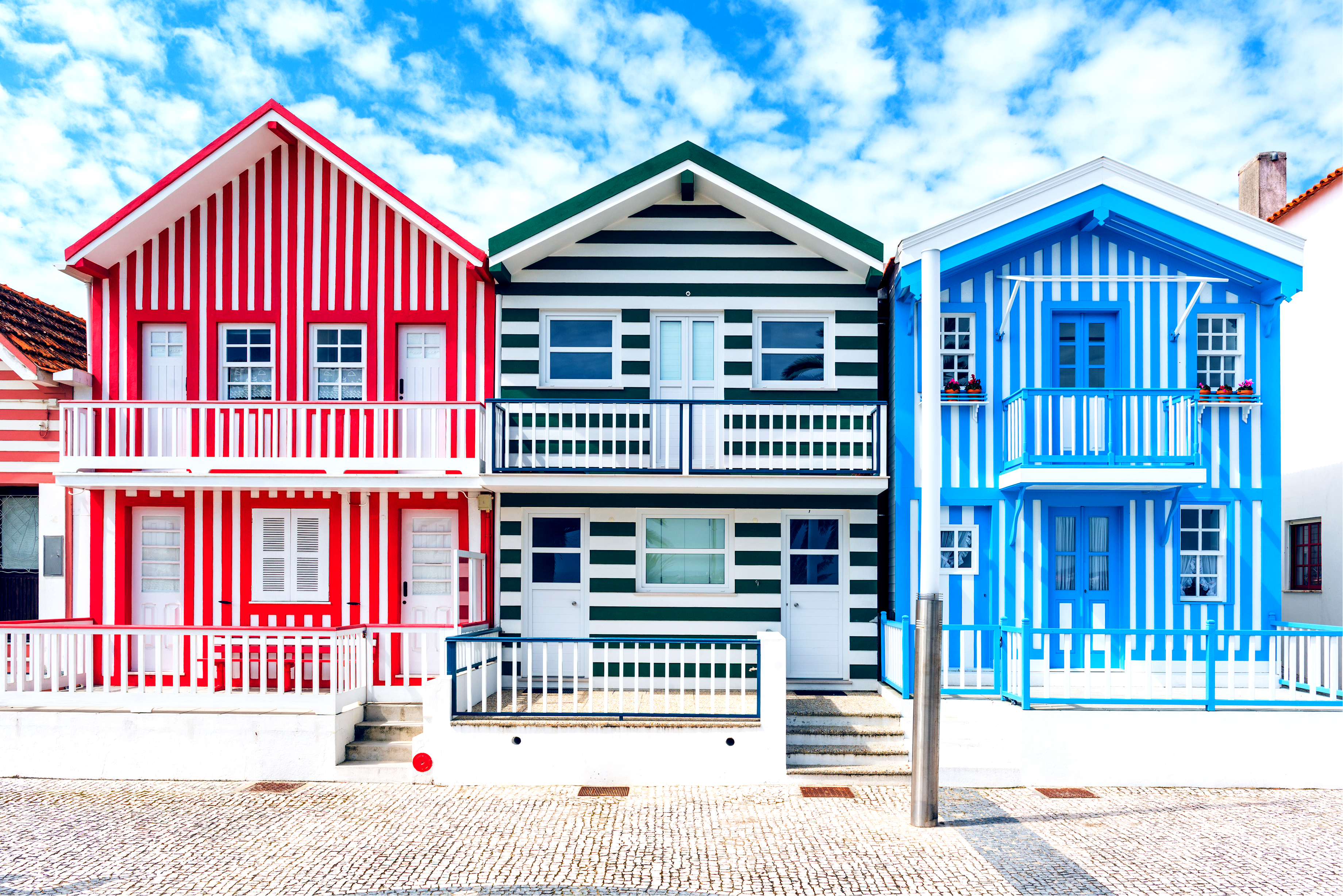 Casitas de colores en Costa Nova - Portugal
