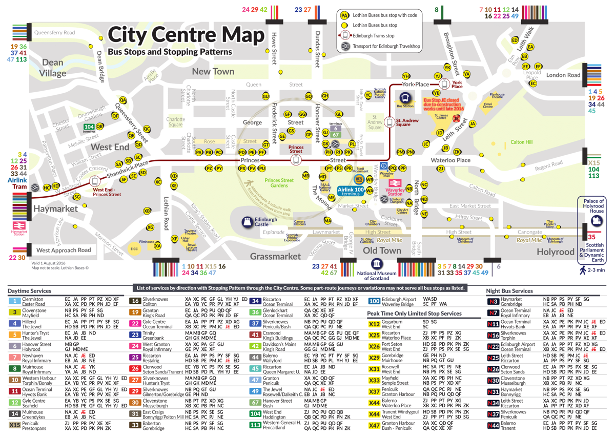 edimburgo mapa Autobús urbano Edimburgo, precio, líneas, horario   101Viajes.com edimburgo mapa