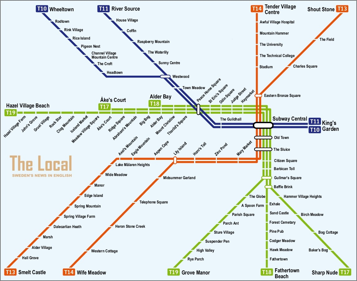 Mapa de estocolmo plano y callejero de estocolmo - Metro de estocolmo ...