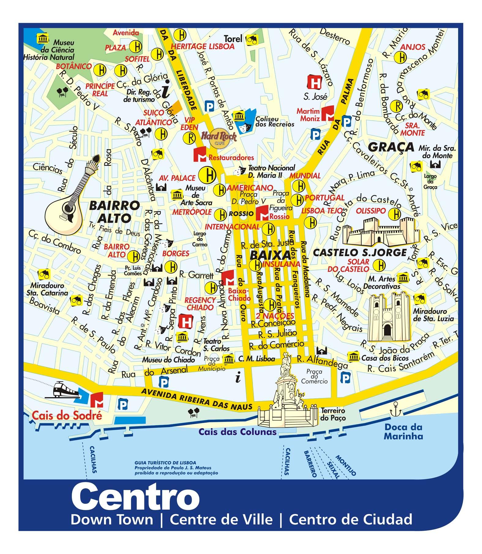 ver mapa de lisboa Mapa de Lisboa, Plano y callejero de Lisboa   101Viajes.com ver mapa de lisboa