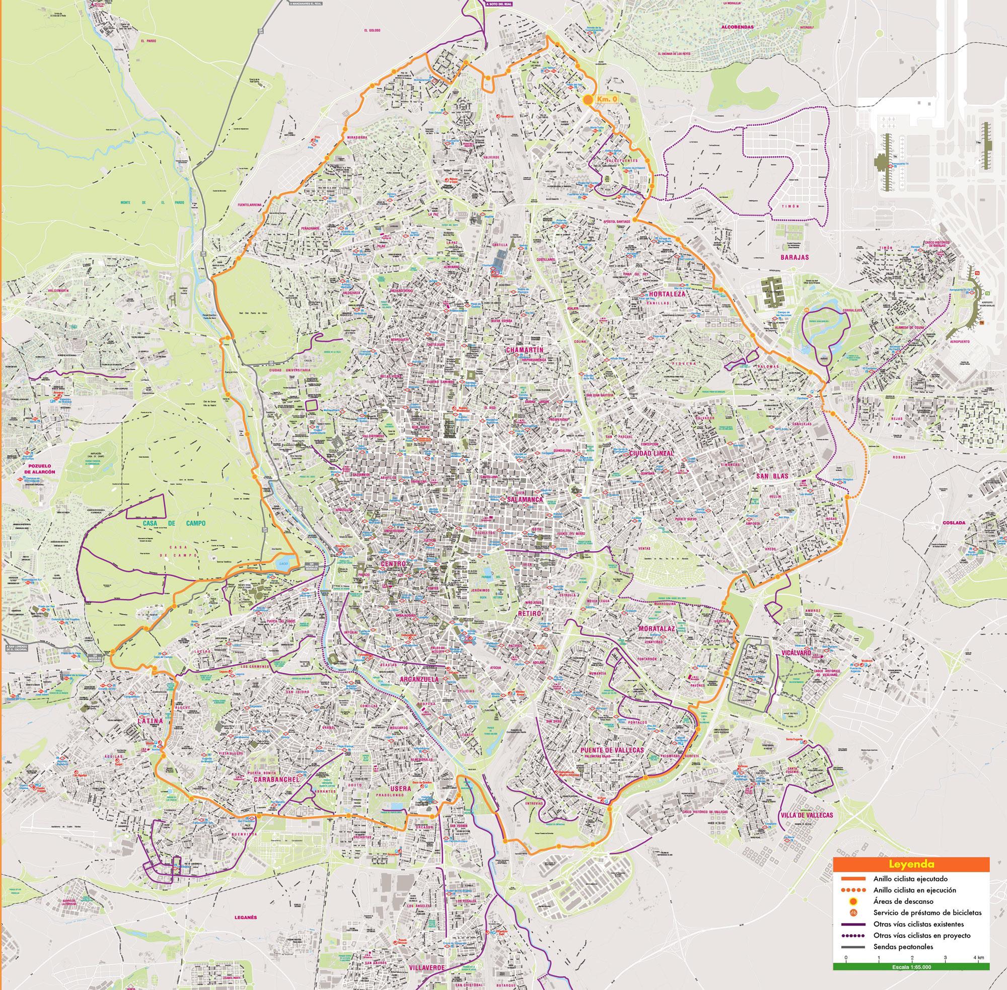 Mapa De Madrid Plano Y Callejero De Madrid 101viajes