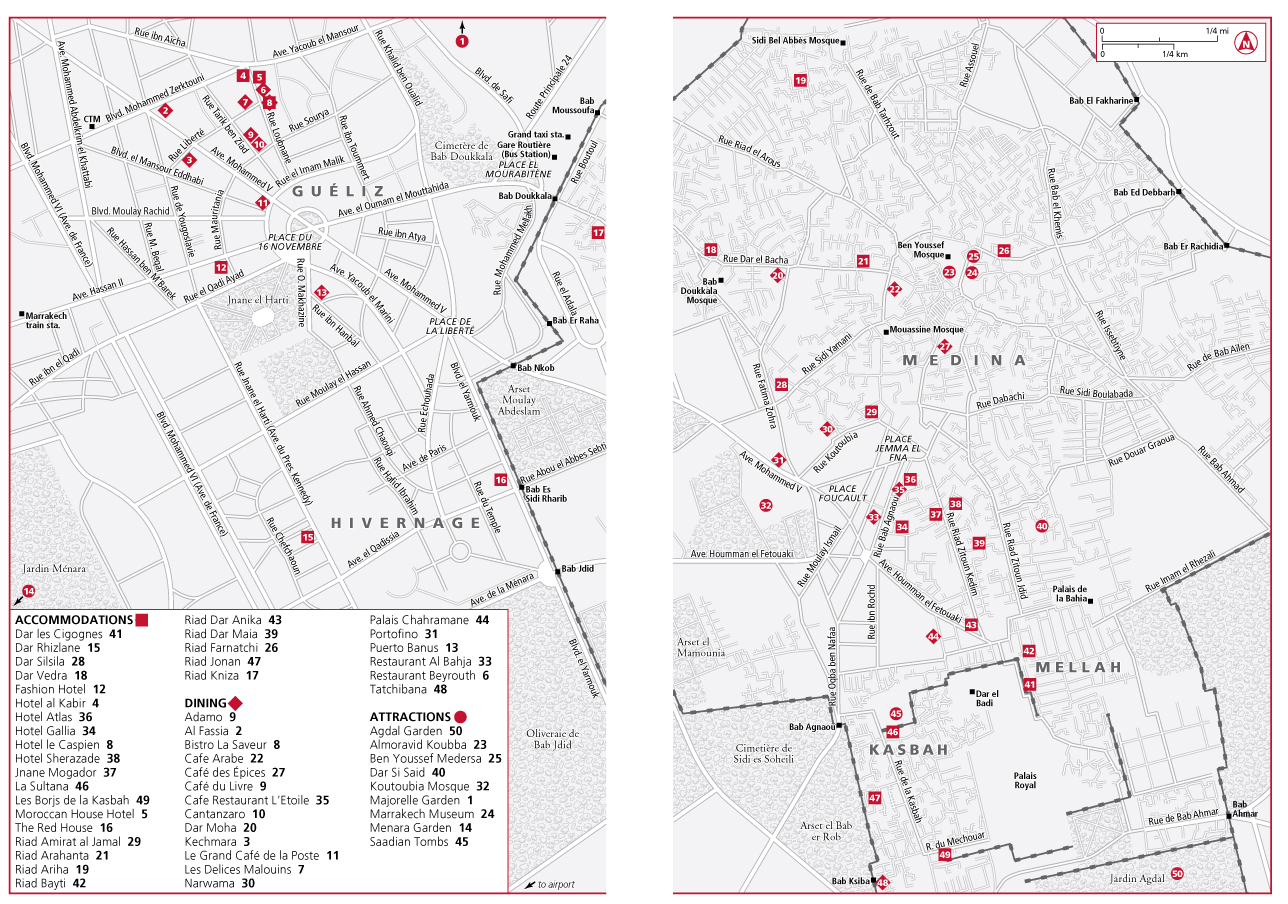 Mapa De Marrakech Plano Y Callejero De Marrakech 101viajes