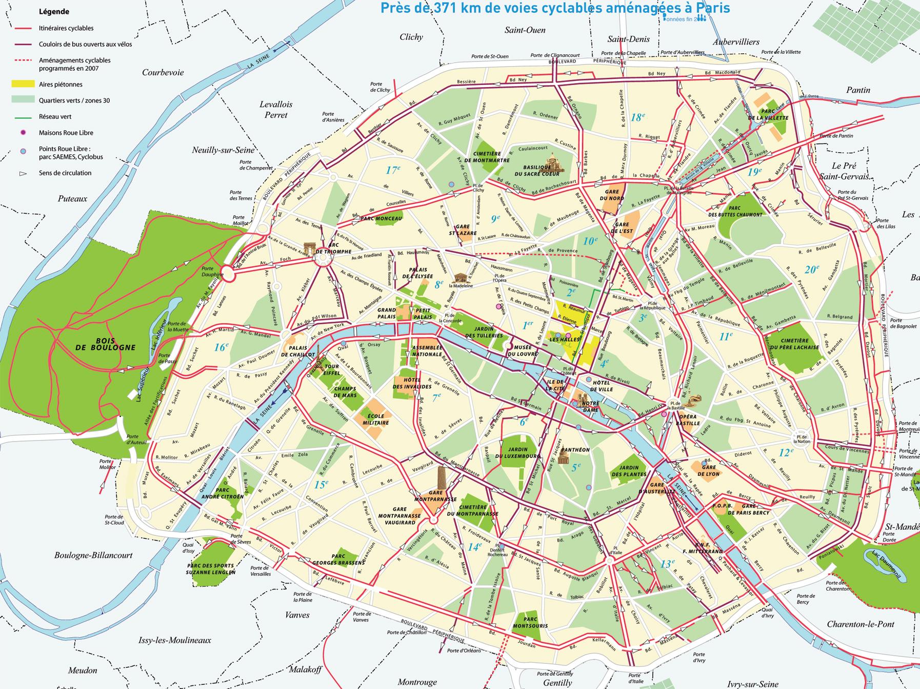 Mapa de París, Plano y callejero de París   101Viajes.com
