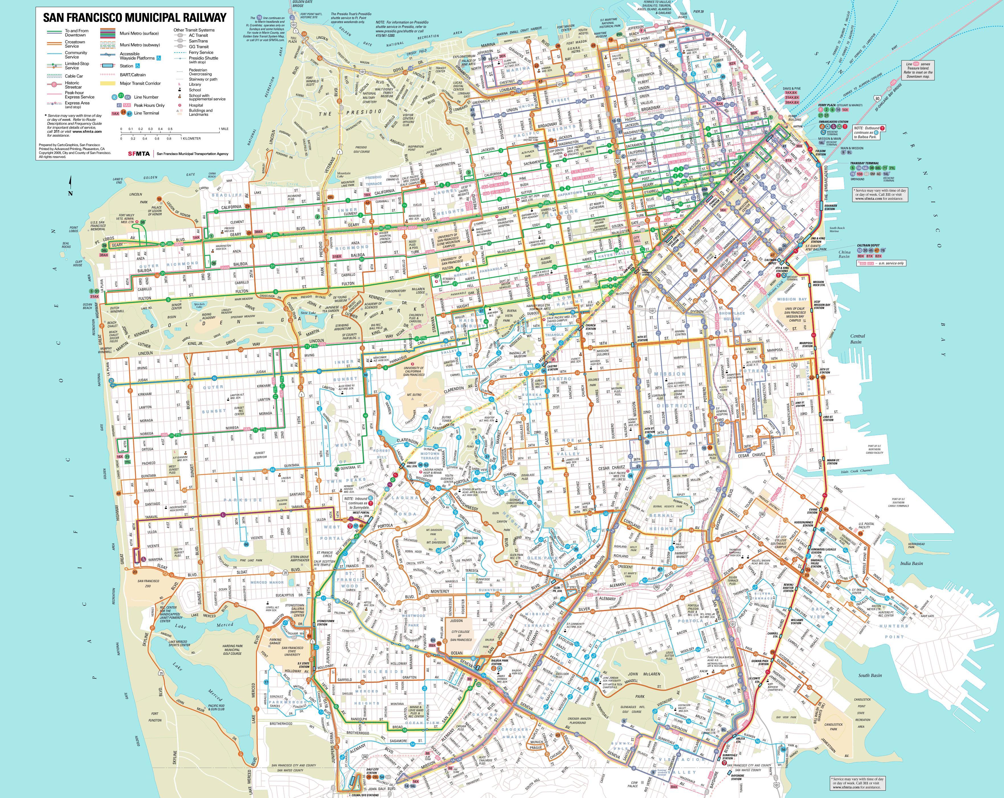 Mapa Turistico San Francisco.Mapa De San Francisco Plano Y Callejero De San Francisco