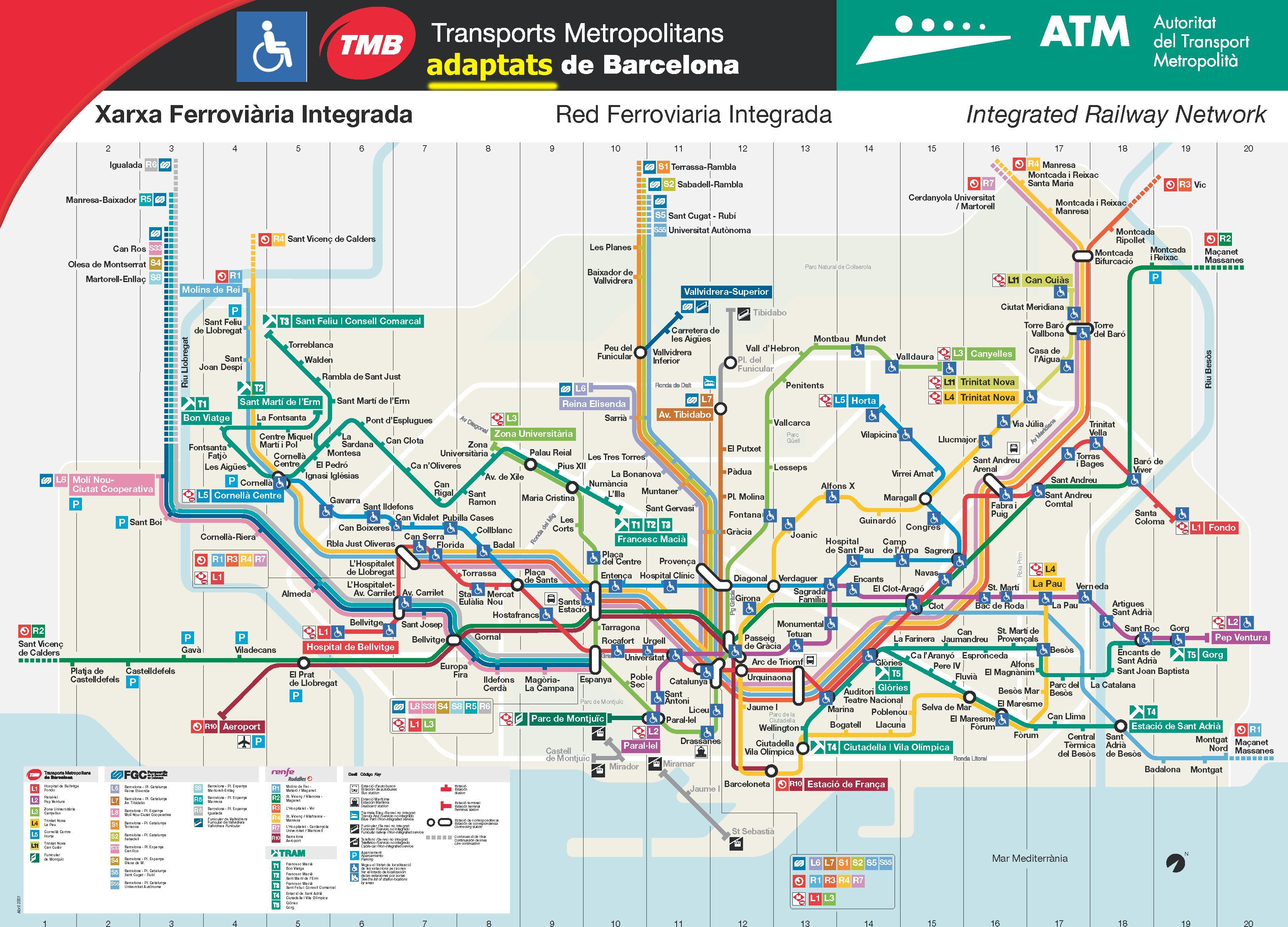 Mapa De Barcelona Plano Y Callejero De Barcelona 101viajes
