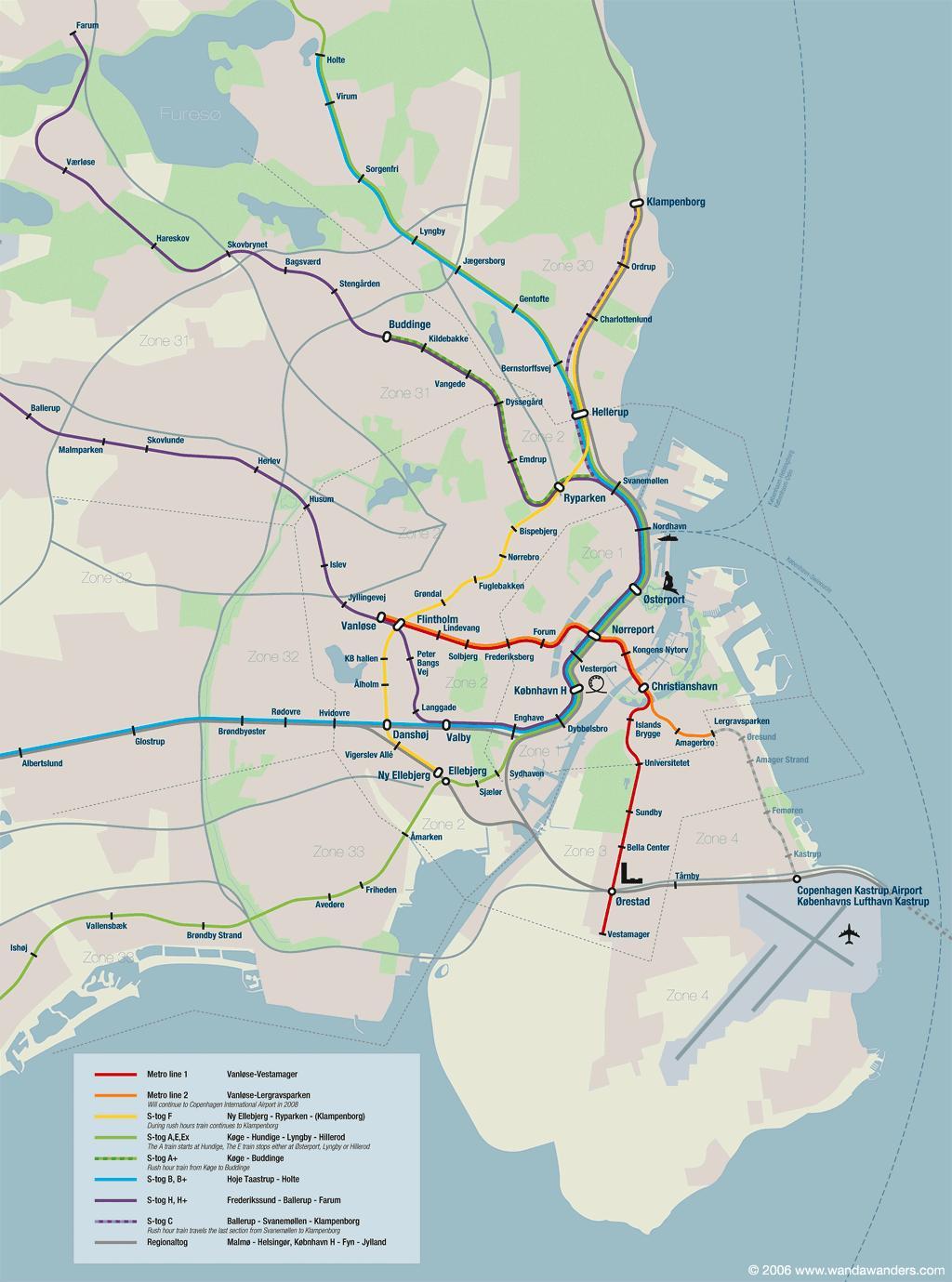 Mapa Turistico De Copenhague.Mapa De Copenhague Plano Y Callejero De Copenhague 101viajes