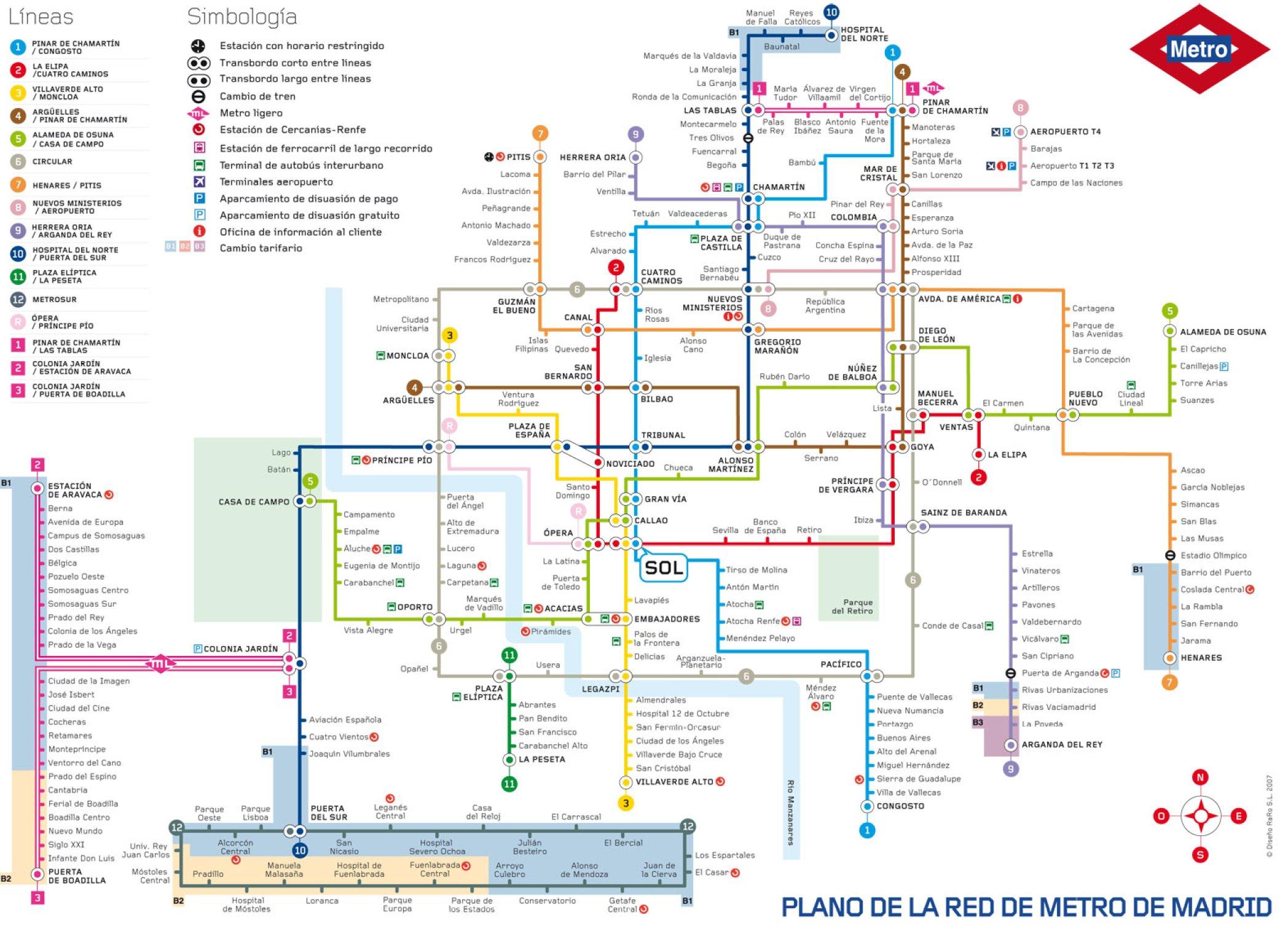 Mapa de Madrid Plano y callejero de Madrid  101Viajescom