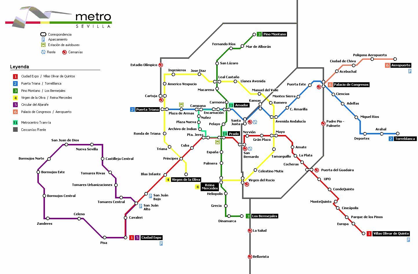 Mapa De Sevilla Plano Y Callejero De Sevilla 101viajes