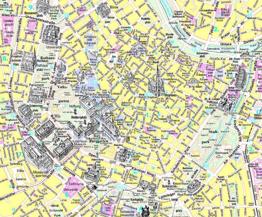 Mapa De Viena Plano Y Callejero De Viena 101viajes