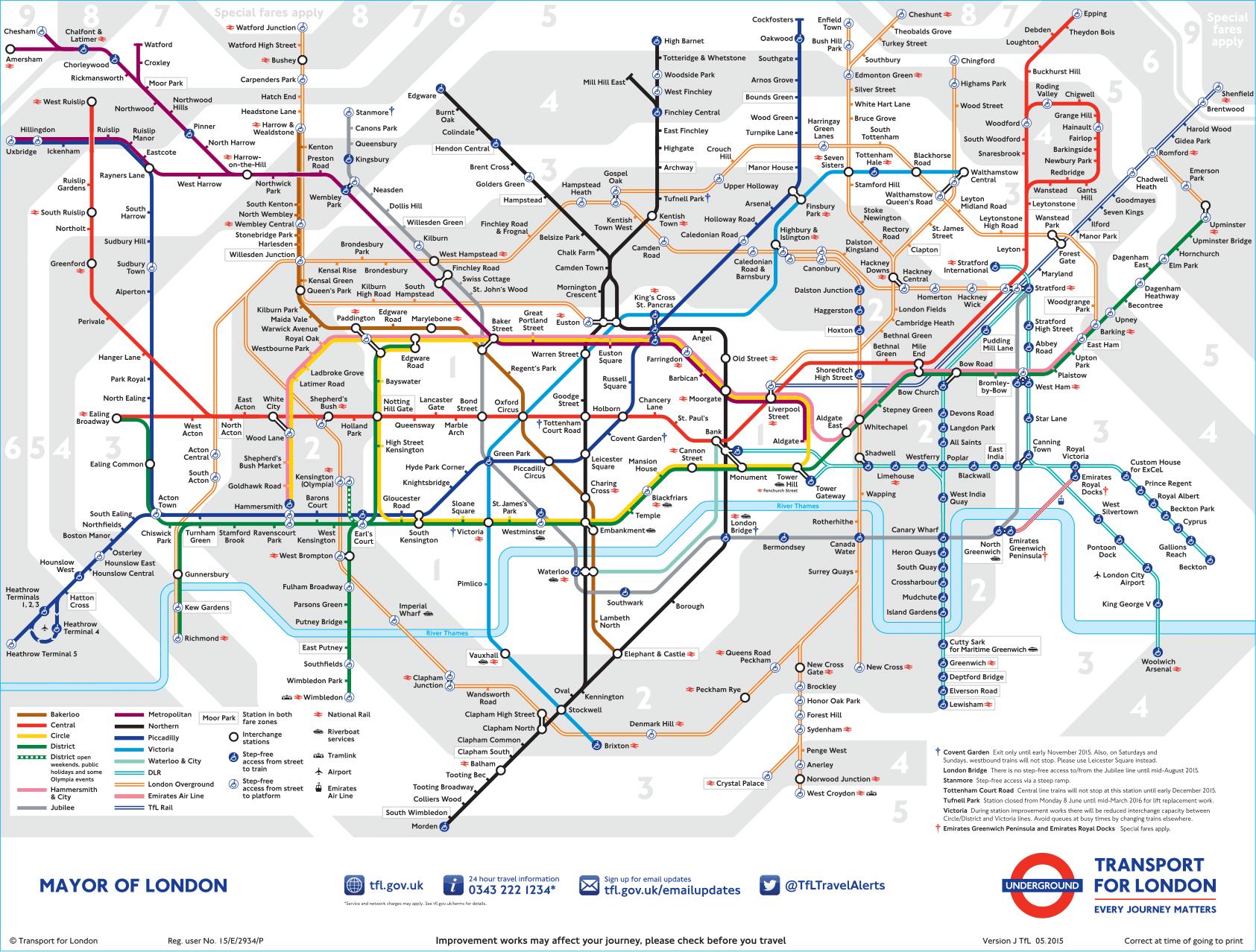 metro de londres mapa Metro de Londres, precios, líneas, horarios y mapa del metro de  metro de londres mapa