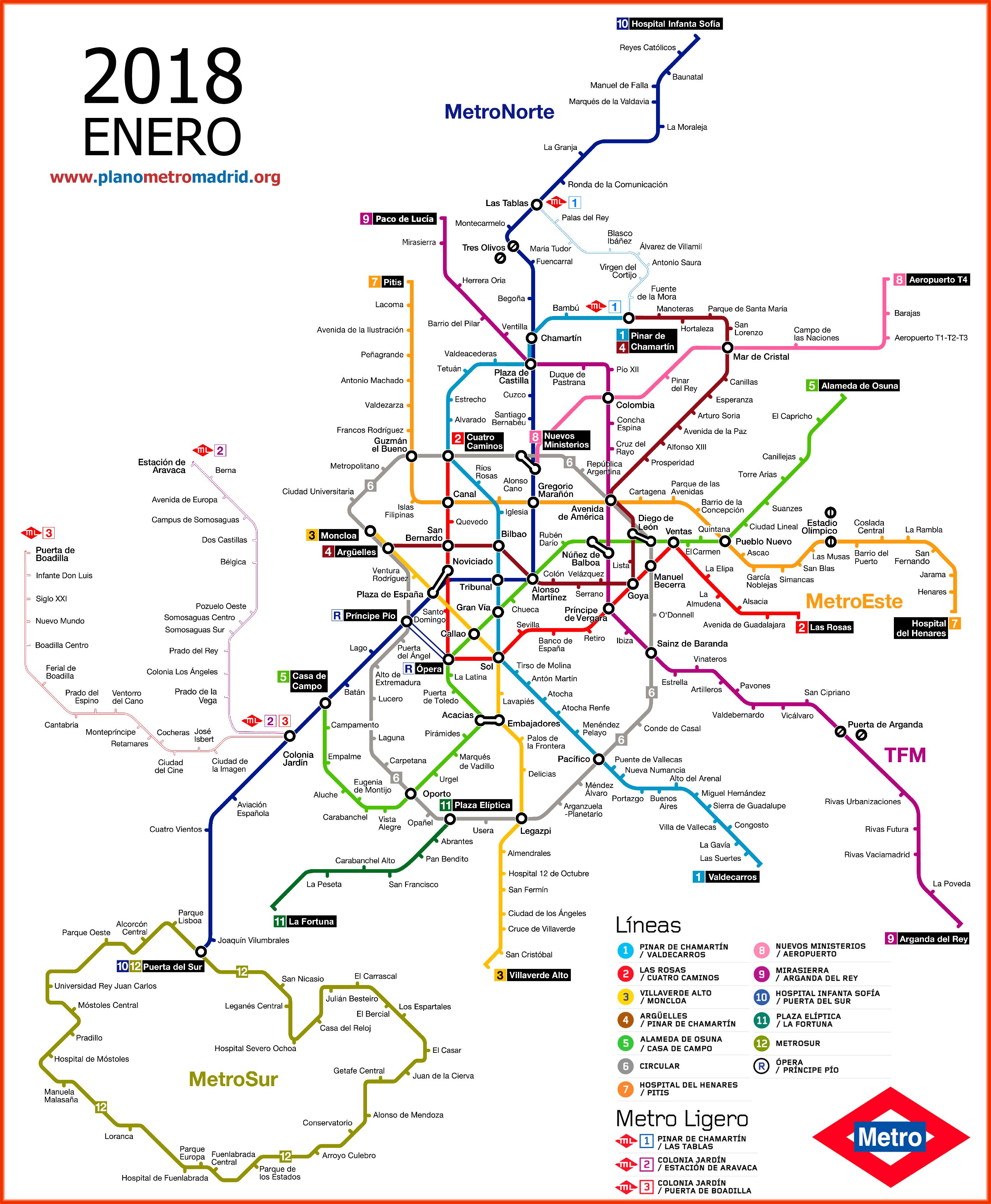 Mapa Del Metro De Madrid Linea 1.Metro De Madrid Tarifas Horario Mapa 101viajes