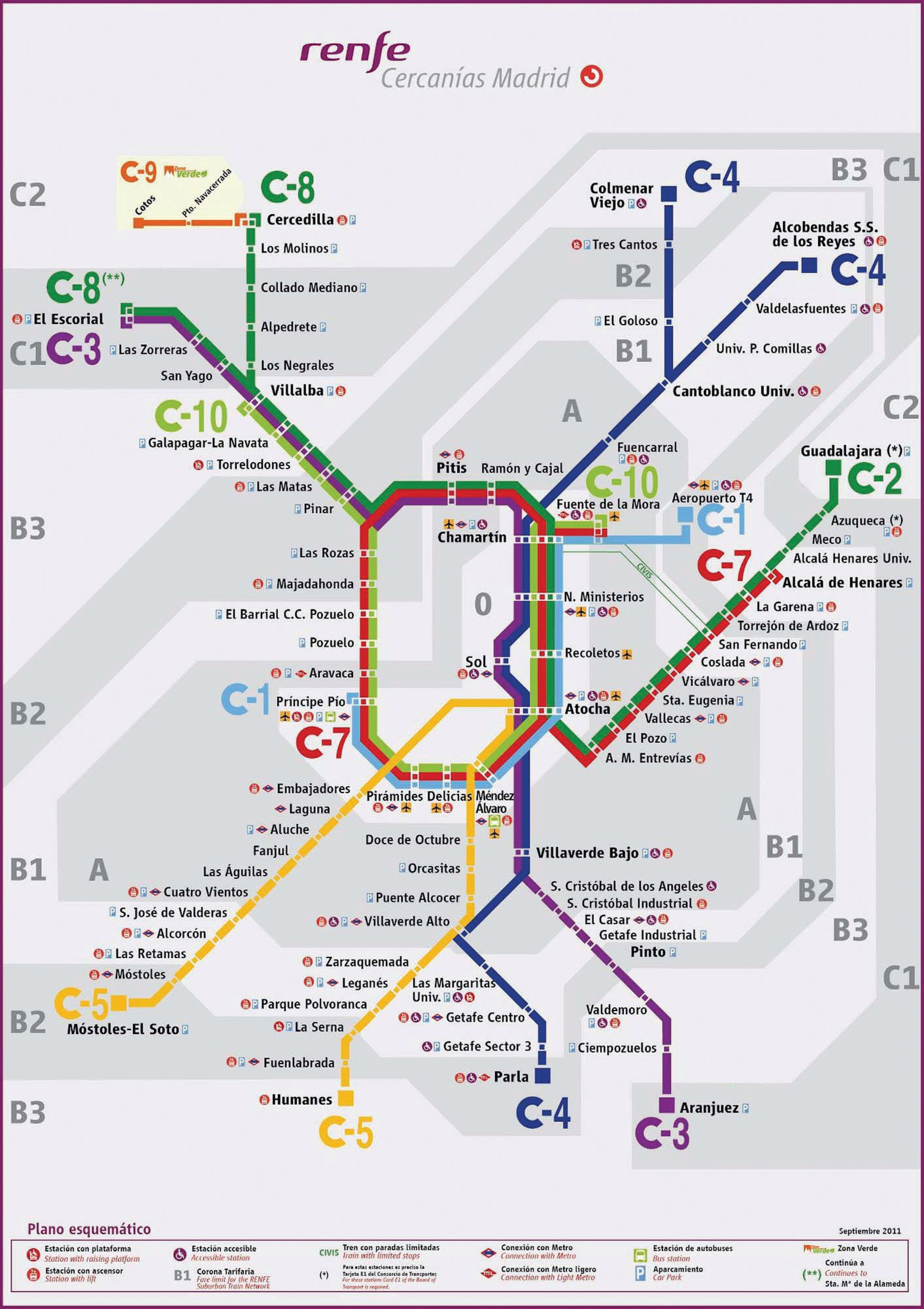 Tren En Madrid Horarios Precio Mapa 101viajes
