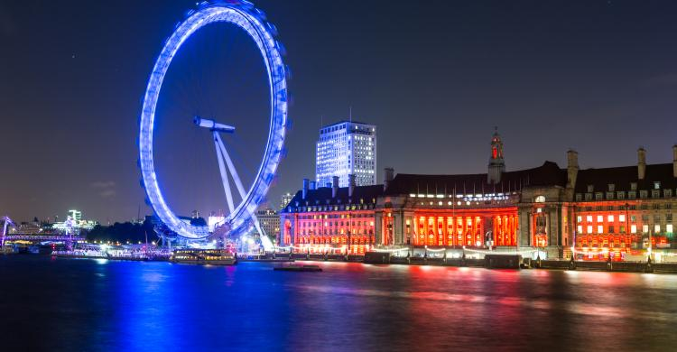 London Eye de noche