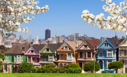 """Painted Ladies"" casas victorianas de San Francisco"