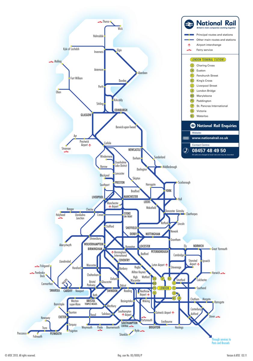 Tren urbano Londres, billetes, precios, líneas, horarios y mapa del tren en  Londres - 101viajes